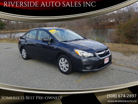 2013 Subaru Impreza for sale at RIVERSIDE AUTO SALES INC in Somerset MA