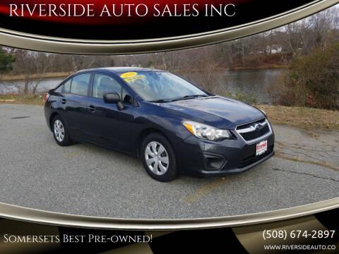 2013 Subaru Impreza for sale at RIVERSIDE AUTO SALES INC in Somerset MA