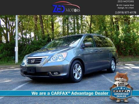 2010 Honda Odyssey for sale at Zed Motors in Raleigh NC