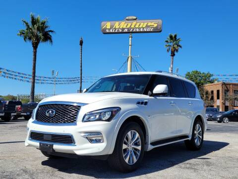2015 Infiniti QX80 for sale at A MOTORS SALES AND FINANCE in San Antonio TX