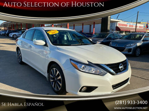 2017 Nissan Altima for sale at Auto Selection of Houston in Houston TX