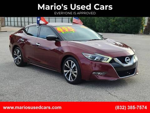 2016 Nissan Maxima for sale at Mario's Used Cars - Pasadena Location in Pasadena TX