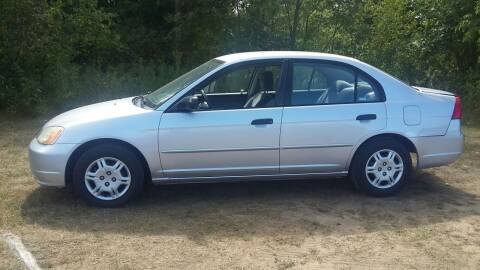 2001 Honda Civic for sale at Expressway Auto Auction in Howard City MI