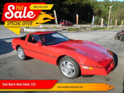 1989 Chevrolet Corvette for sale at East Barre Auto Sales, LLC in East Barre VT