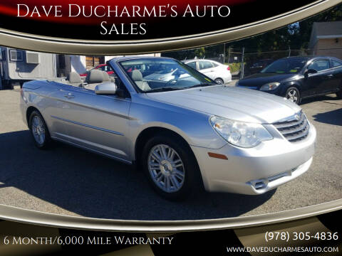2008 Chrysler Sebring for sale at Dave Ducharme's Auto Sales in Lowell MA
