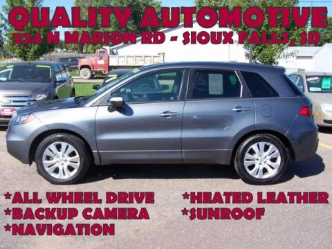 2012 Acura RDX for sale at Quality Automotive in Sioux Falls SD
