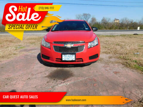 2014 Chevrolet Cruze for sale at CAR QUEST AUTO SALES in Houston TX