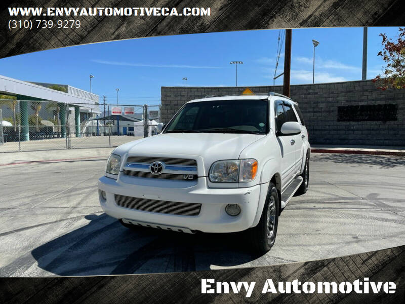 2005 Toyota Sequoia for sale at Envy Automotive in Studio City CA