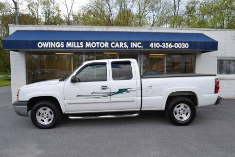2004 Chevrolet Silverado 1500 for sale at Owings Mills Motor Cars in Owings Mills MD