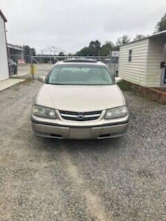 2003 Chevrolet Impala for sale at CAROLINA TOY SHOP LLC in Hartsville SC