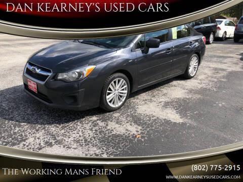 2013 Subaru Impreza for sale at DAN KEARNEY'S USED CARS in Center Rutland VT