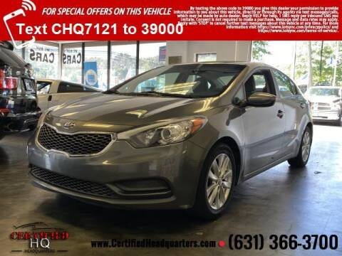 2016 Kia Forte for sale at CERTIFIED HEADQUARTERS in Saint James NY