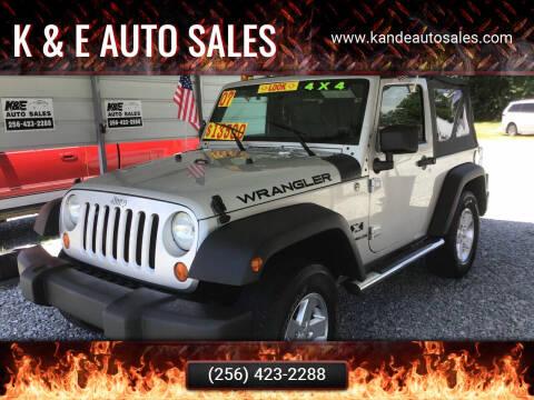2007 Jeep Wrangler for sale at K & E Auto Sales in Ardmore AL