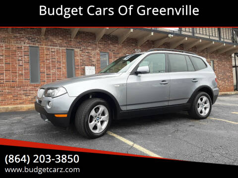 2007 BMW X3 for sale at Budget Cars Of Greenville in Greenville SC