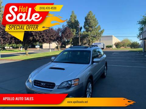 2005 Subaru Outback for sale at APOLLO AUTO SALES in Sacramento CA