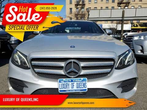 2017 Mercedes-Benz E-Class for sale at LUXURY OF QUEENS,INC in Long Island City NY