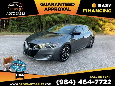 2016 Nissan Maxima for sale at Drive 1 Auto Sales in Wake Forest NC