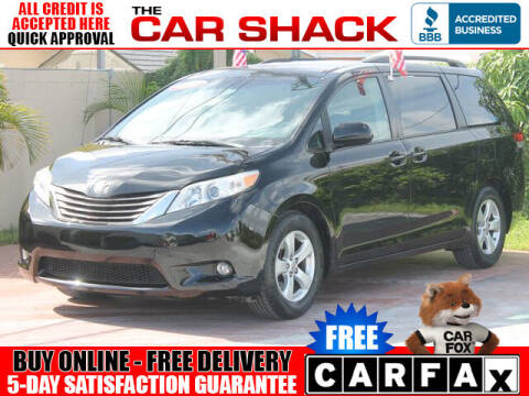 2013 Toyota Sienna for sale at The Car Shack in Hialeah FL