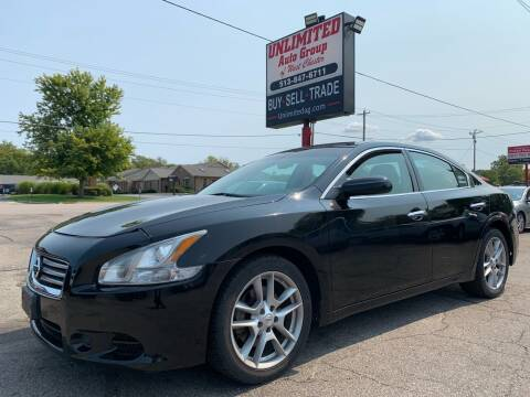 2012 Nissan Maxima for sale at Unlimited Auto Group in West Chester OH