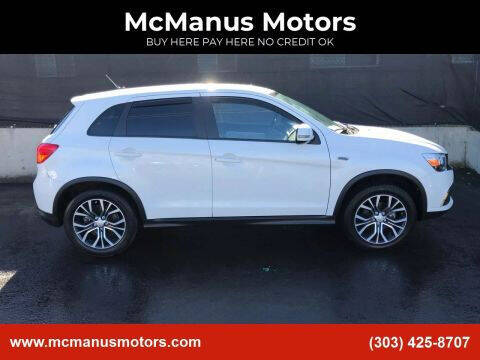 2016 Mitsubishi Outlander Sport for sale at McManus Motors in Wheat Ridge CO