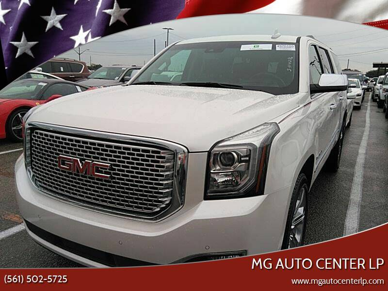 2017 GMC Yukon XL for sale at MG Auto Center LP in Lake Park FL