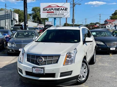 2010 Cadillac SRX for sale at Supreme Auto Sales in Chesapeake VA