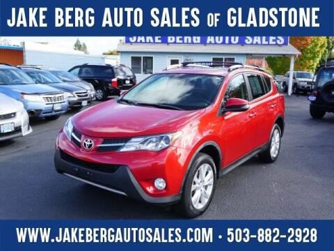 2014 Toyota RAV4 for sale at Jake Berg Auto Sales in Gladstone OR