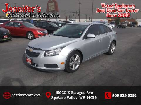 2013 Chevrolet Cruze for sale at Jennifer's Auto Sales in Spokane Valley WA