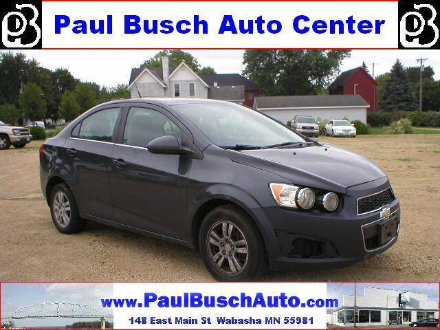 2014 Chevrolet Sonic for sale at Paul Busch Auto Center Inc in Wabasha MN