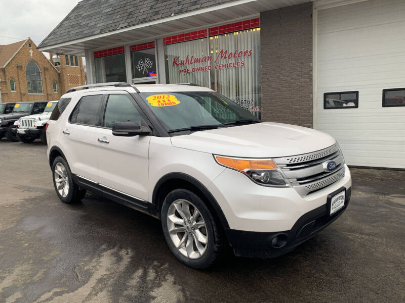 2012 Ford Explorer for sale at KUHLMAN MOTORS in Maquoketa IA