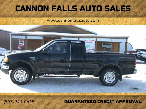 2001 Ford F-150 for sale at Cannon Falls Auto Sales in Cannon Falls MN