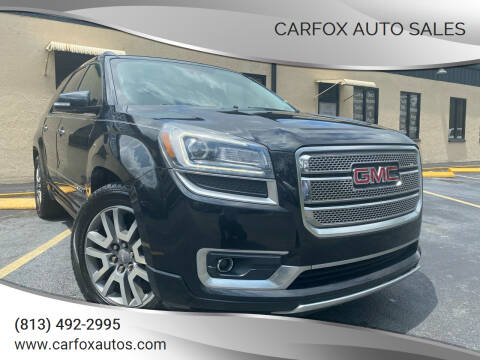 2014 GMC Acadia for sale at Carfox Auto Sales in Tampa FL