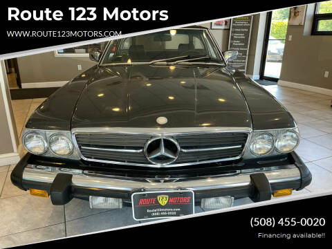 1987 Mercedes-Benz 560-Class for sale at Route 123 Motors in Norton MA