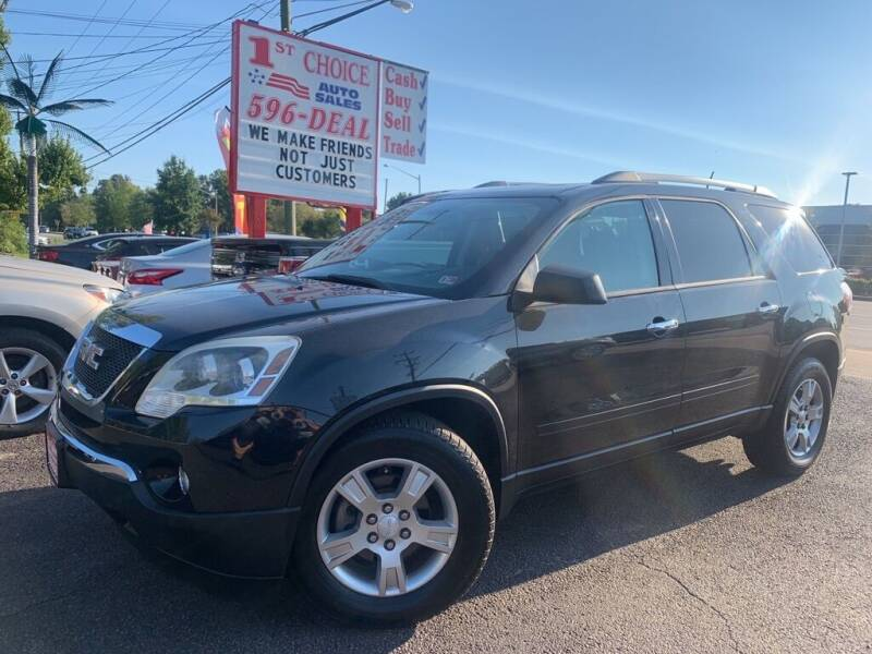 2011 GMC Acadia for sale at 1st Choice Auto Sales in Newport News VA