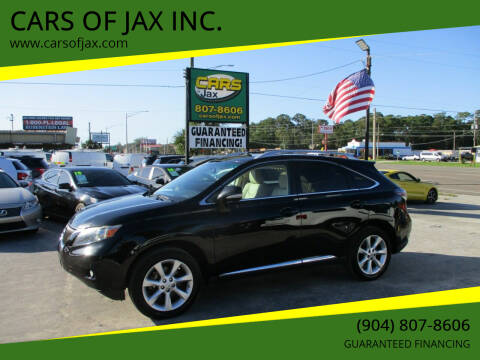 2010 Lexus RX 350 for sale at CARS OF JAX INC. in Jacksonville FL