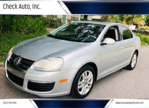 2007 Volkswagen Jetta for sale at CHECK  AUTO INC. in Tampa FL