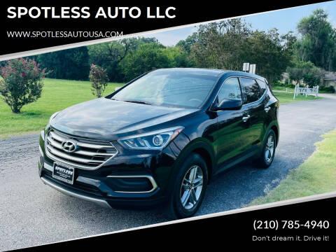 2018 Hyundai Santa Fe Sport for sale at SPOTLESS AUTO LLC in San Antonio TX