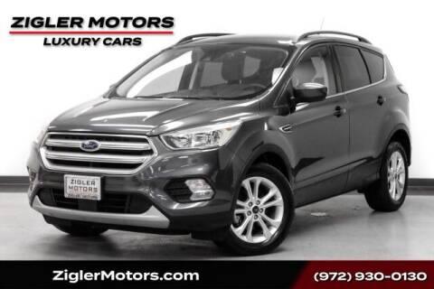 2018 Ford Escape for sale at Zigler Motors in Addison TX