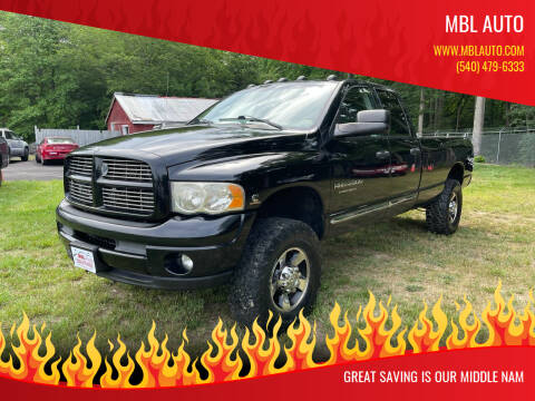 2004 Dodge Ram Pickup 2500 for sale at MBL Auto Woodford in Woodford VA
