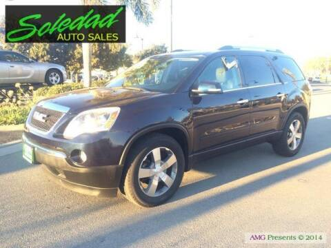 2012 GMC Acadia for sale at Soledad Auto Sales in Soledad CA