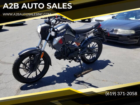 2016 Kymco K-PIPE for sale at A2B AUTO SALES in Chula Vista CA