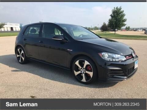 2019 Volkswagen Golf GTI for sale at Sam Leman CDJRF Morton in Morton IL