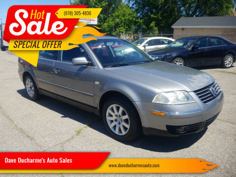 2002 Volkswagen Passat for sale at Dave Ducharme's Auto Sales in Lowell MA