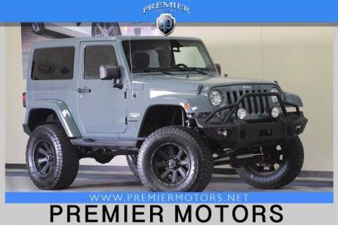 2014 Jeep Wrangler for sale at Premier Motors in Hayward CA
