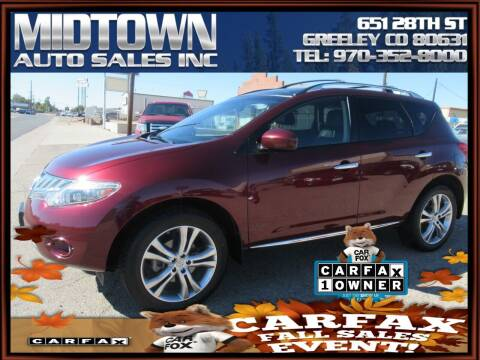 2010 Nissan Murano for sale at MIDTOWN AUTO SALES INC in Greeley CO