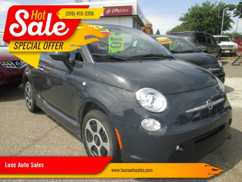 2017 FIAT 500e for sale at Luxe Auto Sales - Clean Air Qualified Vehicles in Modesto CA