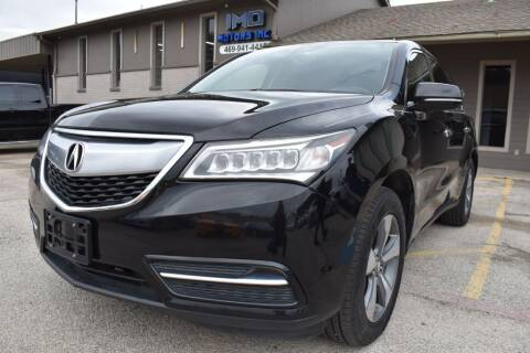 2016 Acura MDX for sale at IMD Motors in Richardson TX