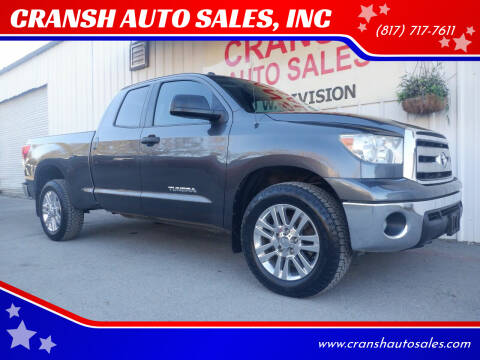 2013 Toyota Tundra for sale at CRANSH AUTO SALES, INC in Arlington TX
