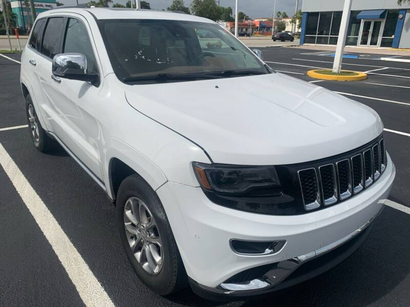 2015 Jeep Grand Cherokee for sale at Eden Cars Inc in Hollywood FL