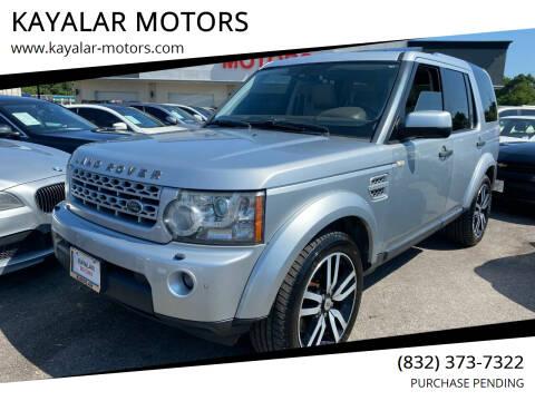 2012 Land Rover LR4 for sale at KAYALAR MOTORS in Houston TX